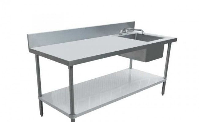 NSF 24x 72 Stainless Steel Table with Sink TSK2472