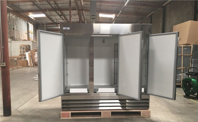 NSF Stainless Steel Reach-In Commercial  3 door freezer CFD-3FF