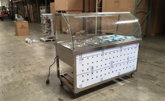 Warmer car Commercial steam table C8