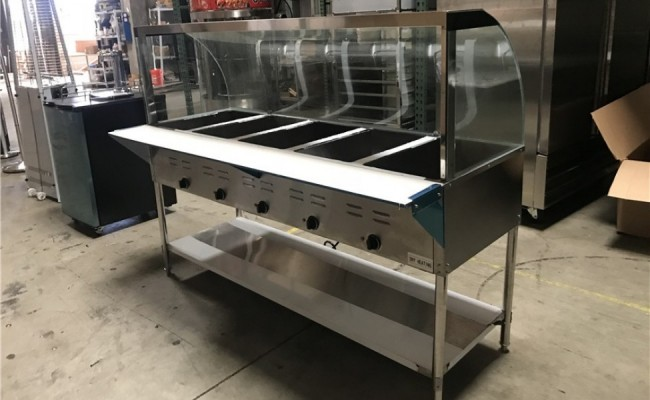 NSF 5 plate warmer steam and dry table N5