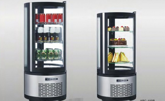 NSF-Countertop-Curved-Glass-Refrigerated-ARC100R