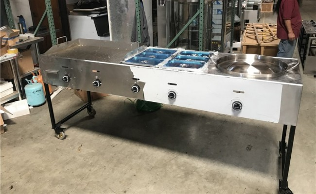 81 ins Deep Fryers Griddle Grill taco carts G24W2P1