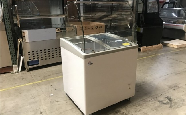 NSF 31 ins Gelato Ice Cream Dipping Cabinet  SD251S with glass