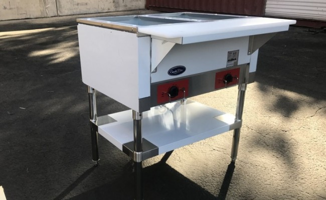 NSF 2 plate warmer and dry steam table NH-2