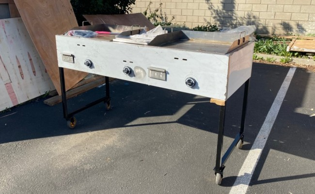 66 ins Steel Catering Grill Camping Tailgate Taco Cart G24W1G24