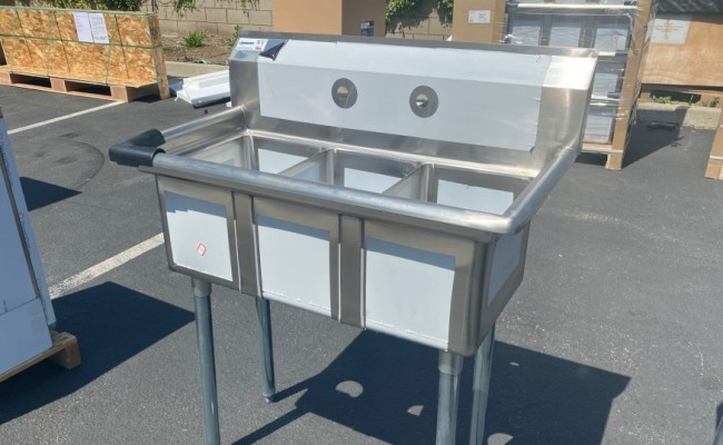 NSF 35 ins Stainless Steel Three Compartment Sink C3T101410