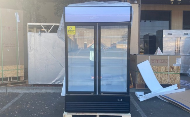 NSF 48 inches two  glass door refrigerator LG1000