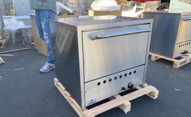 Double Pizza Deck Oven Liquid Propane gas 32 ins NSF  PO26