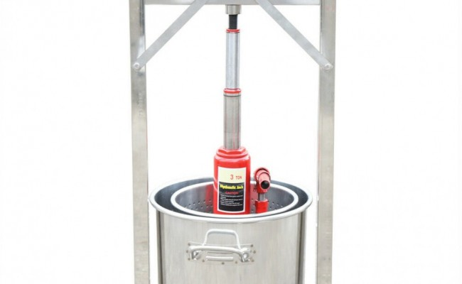 36 L Stainless Steel Fruit Press Crusher Grinder Hydraulic Jack