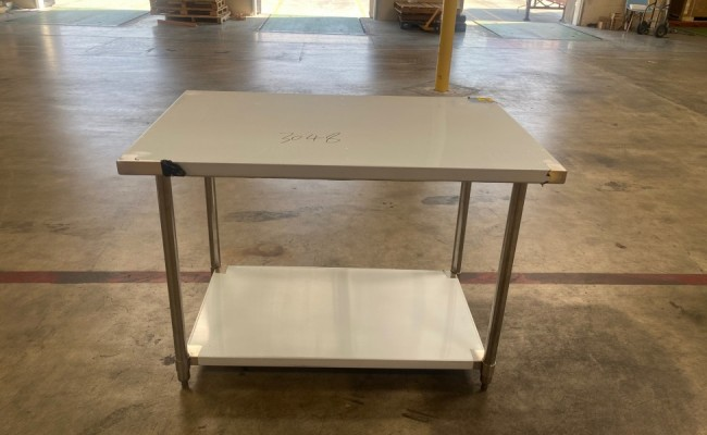 All Stainless Steel Table NSF 48W x 30D x34H inches