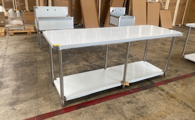 All Stainless Steel Table NSF 84W x 30D x34H inches