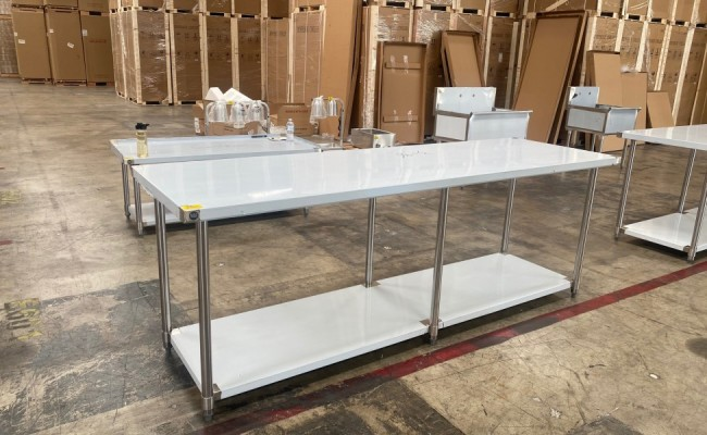 All Stainless Steel Table NSF 96W x 30D x34H inches
