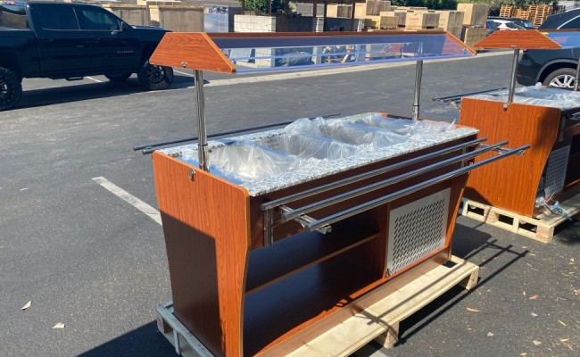 Salad buffet table open glass cold table RTS-1490L