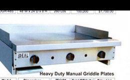 NSF 30 ins gas heavy duty griddle made in USA
