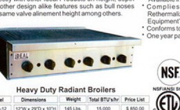 NSF 72ins heavy duty Radiant broiler made in USA