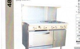NSF 48 ins gas oven range made in USA