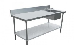 NSF 30x 72Stainless Steel Table with Sink TSK3072