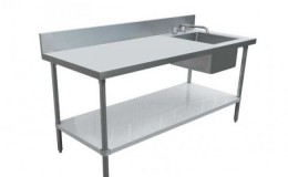 NSF 24x 60 Stainless Steel Table with Sink TSK2460