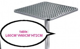Aluminum outdoor table 24*24 ins
