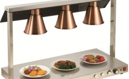 Three lights Warmer with Lights Countertop TP3