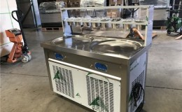 NSF two pan ice cream roll machine FI91