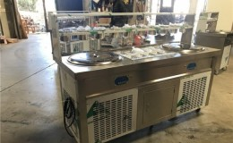 NSF two pan ice cream roll machine FI92