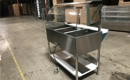 NSF 3 plate warmer steam and dry table N3