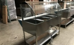 NSF 4 plate warmer steam and dry table N4