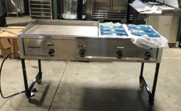 65 ins Plancha with steam table taco carts G36W2