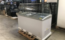 NSF 60 ins Gelato Dipping Cabinet Freezer SD551S with glass
