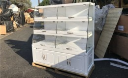 Glass Dry Bakery Case Donuts Bakery Pastry Display  GR60