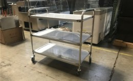 3 Tier stainless steel Utility Cart Rolling Storage CAR3