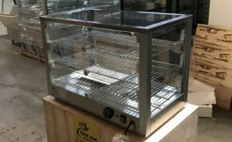 3 layer Glass Hot Food Warmer Display Case RTR-115