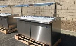 NSF salad buffet table open glass cold table SCLM260