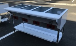 NSF 4 plate warmer and dry steam table CSTEA-4
