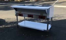 NSF 3 plate warmer and dry steam table NH-3