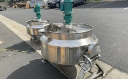 300L cook Jacketed steam mixer kettle CMK300