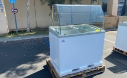 NSF 40 ins Popsicle freezer display SD351S with rack