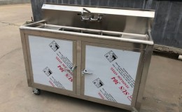 Portable sink 3 compartment  mobile hot and cold Water 54 ins