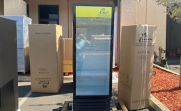 NSF Commercial  67 inches high glass door refrigerator LC-360A