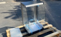 Open air Dry Curved Glass Countertop Dry Display Case RTZ-75L