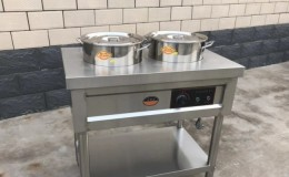 Clearance 2 pot Tamale Cart warmer steam table 21031333