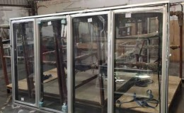 Walk-In Freezer Merchandiser 3 Door with frame NSF