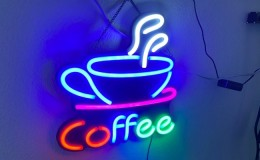 Coffee led sign Coffee Bar Wall Sign