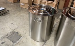 Polished Stainless Steel 190l/209qt Stock Pot D24H28