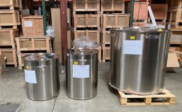 Polished Stainless Steel 220l/240qt Stock Pot D24H32