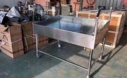 60 seaFood Display Table Ice Bin Cold Insulated Fish Meat SF60