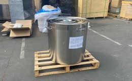 Polished Stainless Steel 400L/422 qt Stock Pot D32H32