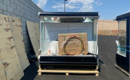 79 ins Open Air Curtain Remote Cooled Merchandiser ORE80