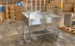 60 seaFood Display Table Ice Bin Cold Insulated Fish Meat ICT60